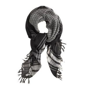 J. Crew 100% Wool Diamond & Plaid Scarf